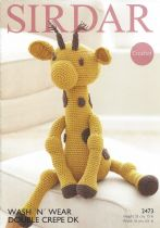 Sirdar Wash 'n Wear Double Crepe - 2473 Giraffe Toy Crochet Pattern